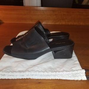 VIA SPIGA Women's Porter Mule Black Leather